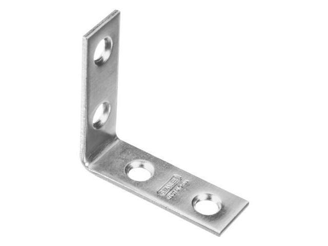 Stanley Hardware 25 Count 1-.50in. Zinc Corner Braces  266304 - Pack of 40