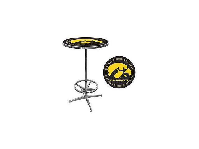 University of Iowa Pub Table with Chrome Plated Banding- IA2000