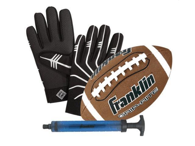 Franklin Sports 11381 GRIP RITE Jr. Ball and Receivers Glove Set