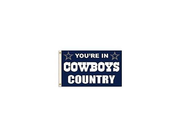 Fremont Die- Inc. 94103B 3 Ft. X 5 Ft. Flag W/Grommetts - Dallas Cowboys