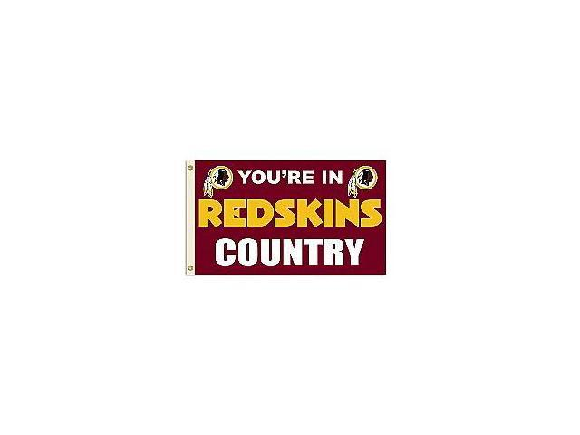 Fremont Die- Inc. 94107B 3 Ft. X 5 Ft. Flag W/Grommetts - Washington Redskins