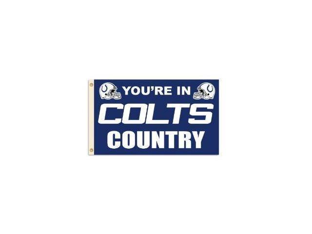 Fremont Die- Inc. 94124B 3 Ft. X 5 Ft. Flag W/Grommetts - Indianapolis Colts