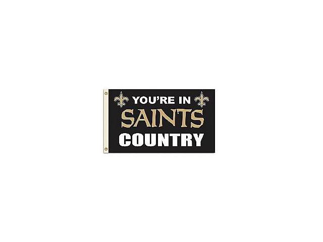 Fremont Die- Inc. 94126B 3 Ft. X 5 Ft. Flag W/Grommetts - New Orleans Saints