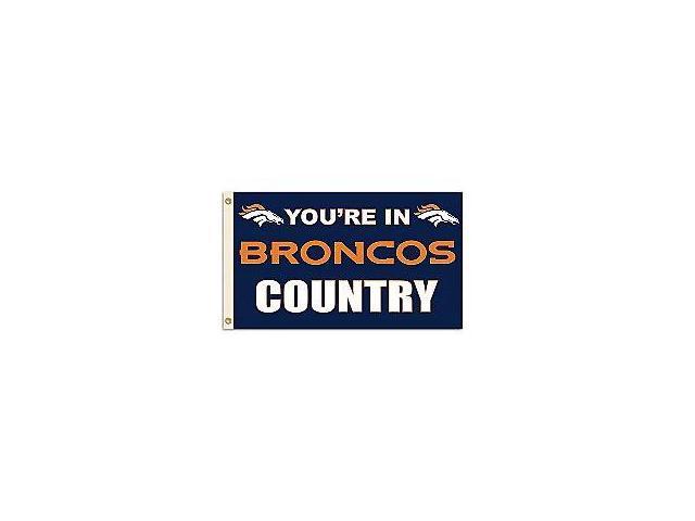 Fremont Die- Inc. 94132B 3 Ft. X 5 Ft. Flag W/Grommetts - Denver Broncos