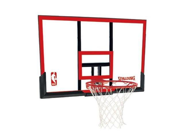 Spalding 79354 48 in. Basketball Backboard, Goal and Net Combo