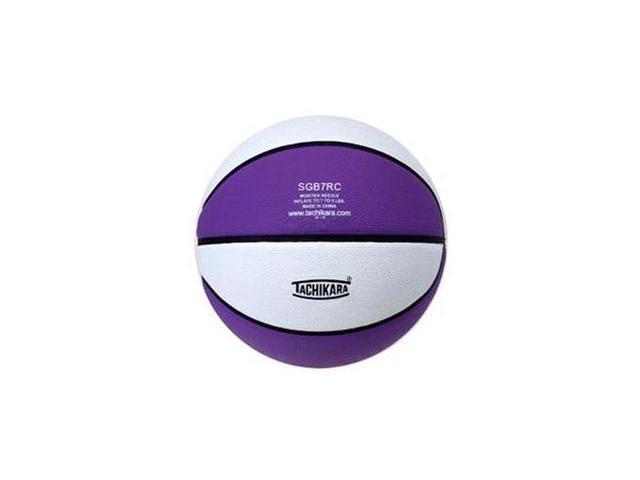Tachikara SGB7RC.PRW Indoor-Outdoor Rubber 29.5 Basketball - Purple-White