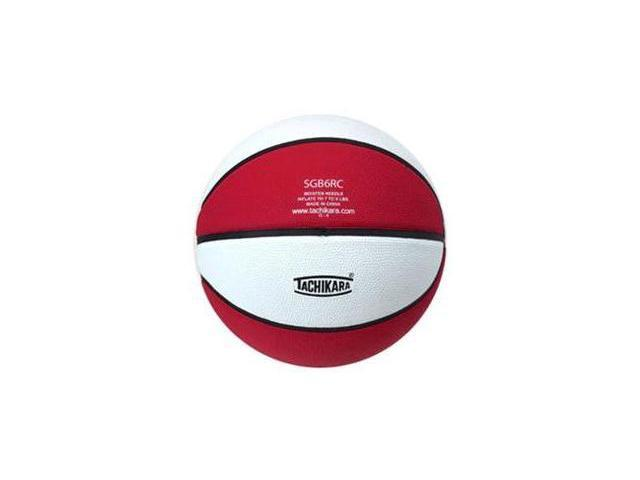 Tachikara SGB6RC.SCW Indoor-Outdoor Rubber 28.5 Intermediate Basketball - Scarlet-White