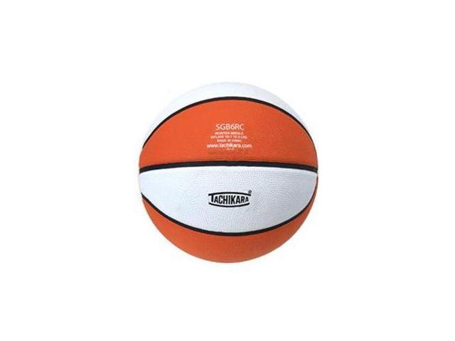 Tachikara SGB6RC.ORW Indoor-Outdoor Rubber 28.5 Intermediate Basketball - Orange-White