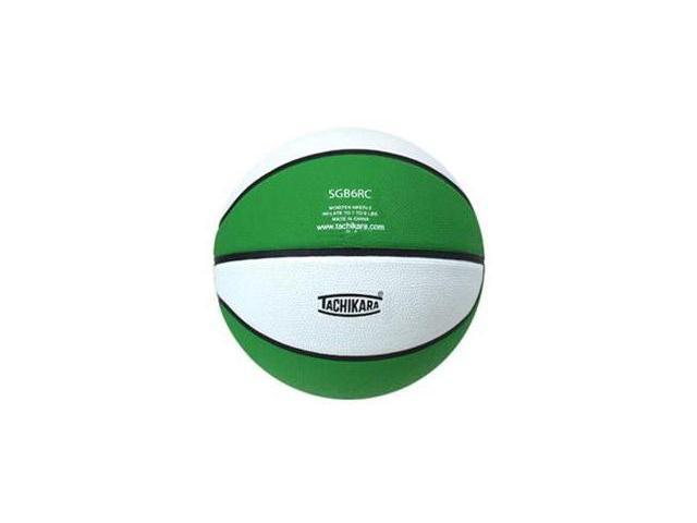 Tachikara SGB6RC.KLW Indoor-Outdoor Rubber 28.5 Intermediate Basketball - Kelly-White