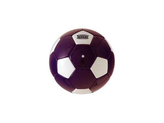 Tachikara SM3SC.PRW Man-Made Leather Soccer Ball - Size 3 - Purple-White