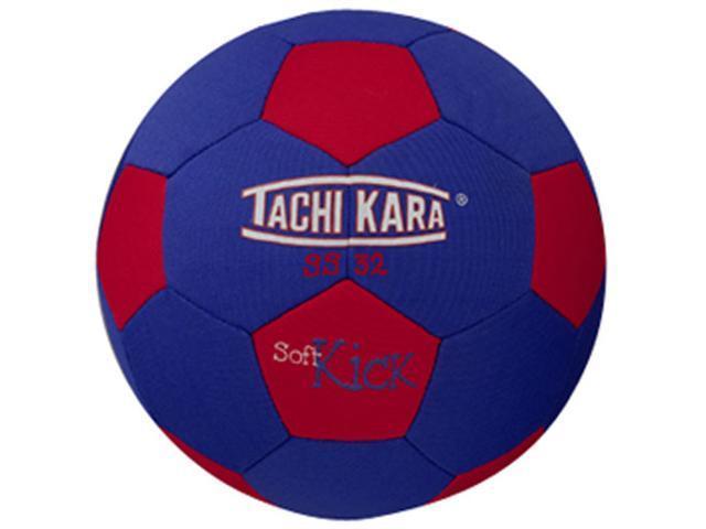 Tachikara SS32 Soft Kick Soccer Ball - Scarlet-White-Royal