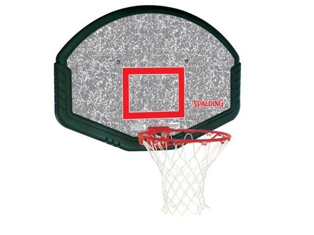 Spalding 80348 48 in. Eco Composite Slam Jam Basketball Backboard and Rim Combo