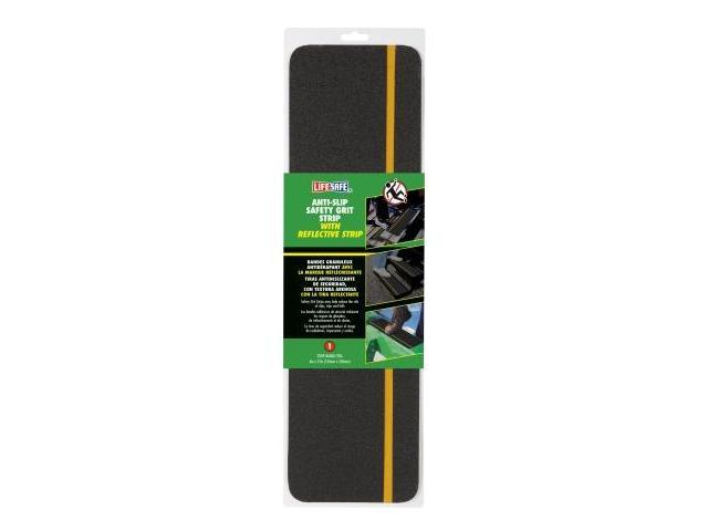 Incom Manufacturing 6in. X 21in. Reflective Yellow & Black Gator Grip Anti Slip Saf