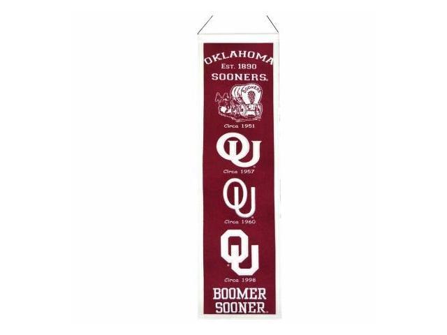 Winning Streak 139611 Oklahoma Sooners Wool Heritage Banner
