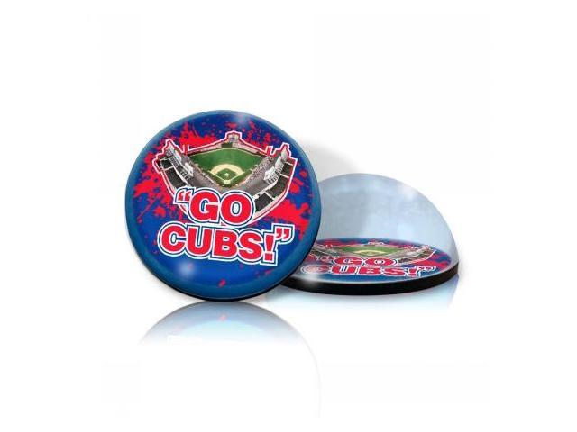 Paragon Innovations WrigleyMagGoCubs Crystal magnet with Wrigley Field image, giving a magnifying effect-MLB