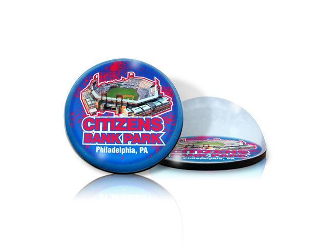 Paragon Innovations CitizensBankMAG Crystal magnet with Citizens Bank Park image, giving a magnifying effect-MLB