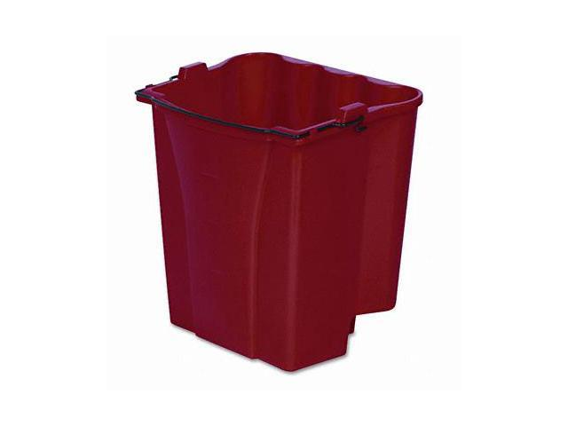 Rubbermaid 9C74RED Dirty Water Bucket for Wavebrake Bucket/Wringer  18-Quart  Red