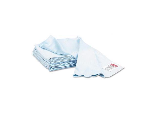Rubbermaid Q630 Reusable Cleaning Cloths  Microfiber  16 x 16  Blue  12/carton