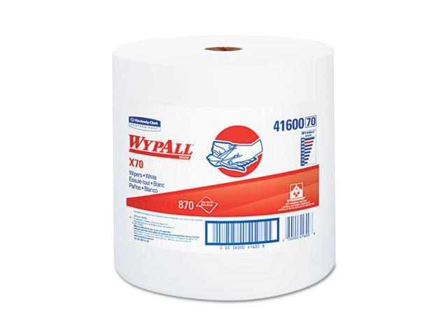 KIMBERLY-CLARK PROFESSIONAL* 41600 WYPALL X70 Wipers- Jumbo Roll- Perf.- 12.5 x 13.4- White- 870/Roll- 1/Carton
