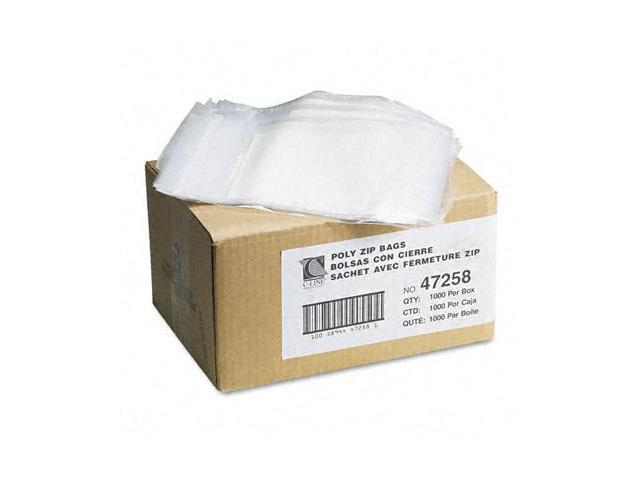C-Line - 47258 - Write-On Recloseable Small Parts Bags, Poly, 5 x 8, Clear, 1000/Carton