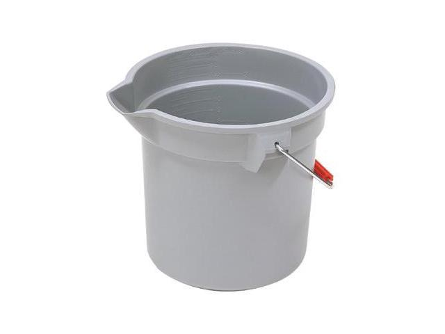 Rubbermaid Commercial 2963-GRAY 10Qt Round Brute Bucketgray, 1 Each