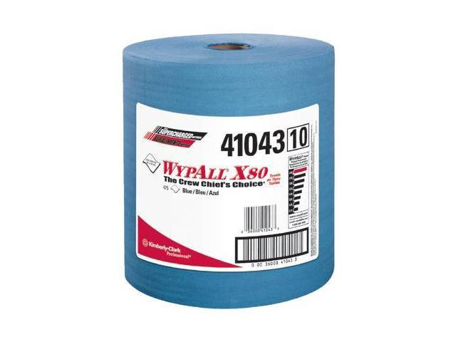 Kimberly-Clark Professional 412-41043 Wypall X80 Shop Pro Cloth Towel Blue 475-Roll