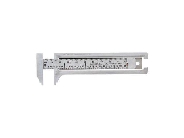 General Tools 318-132ME 3 Inch Pocket Caliper Ss