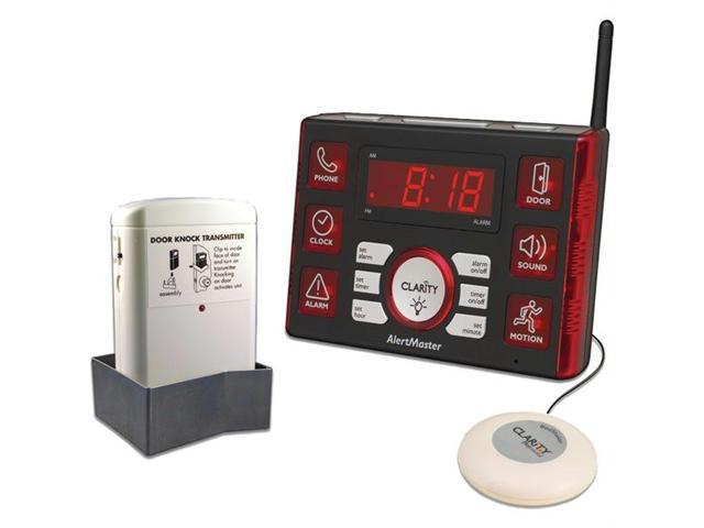 CLARITY 52510.100 Alert10 Home Notification System with Door Knocker