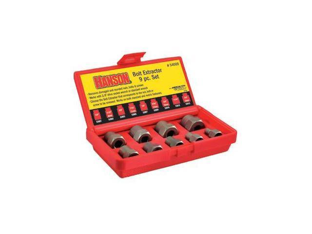 Irwin 585-54009 9 Piece Bolt Extractor Set 1-4-3-4 Inch W-3-8 Inch Drv