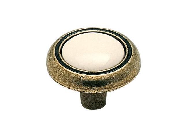 Amerock BP76244-AB 1.25 in. Knob - Appliance Almond-Polished Brass