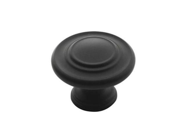 Amerock BP1586-FB 1.38 in. Round Knob - Flat Black