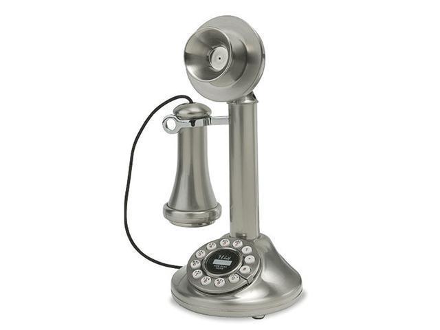 Crosley CR64-BC 1920's Candlestick Phone - Brushed Chrome