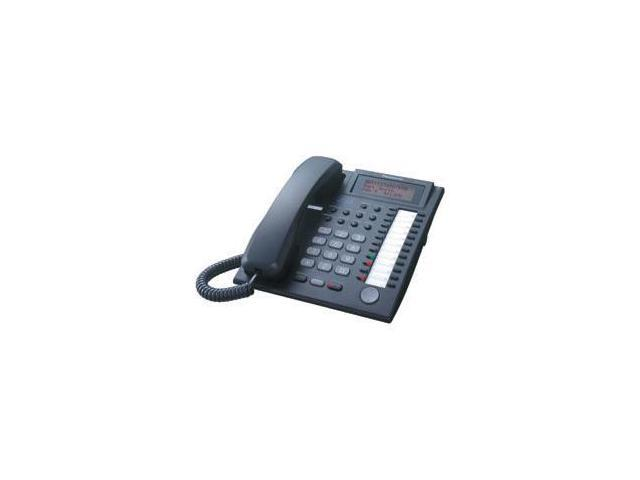 Panasonic BTI KX-T7736BK 24-Button Speakerphone Telephone with LCD Screen - Black
