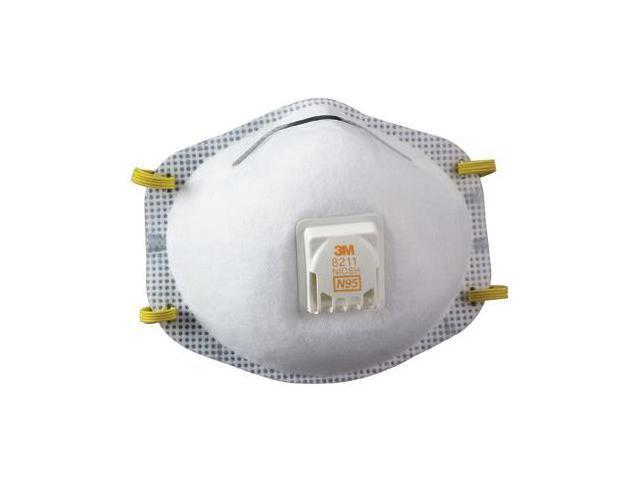 3M 8211 Particulate Respirator 8211, N95, 10/Box