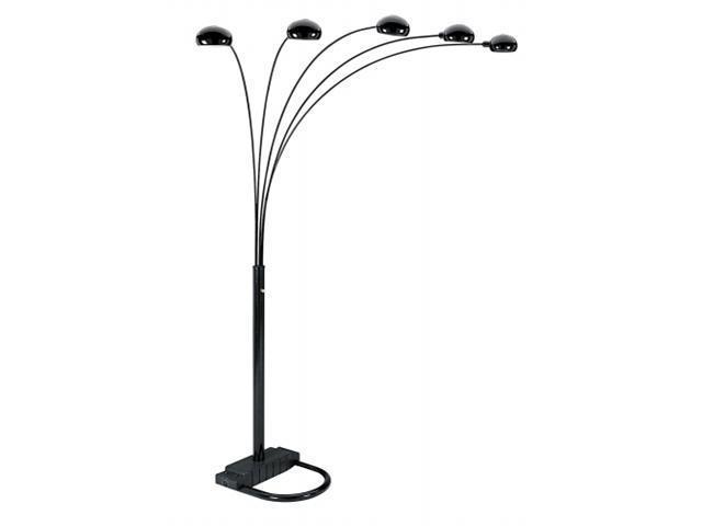 ORE International 5 Arms Arch Floor Lamp - Black, Black - 6962BK