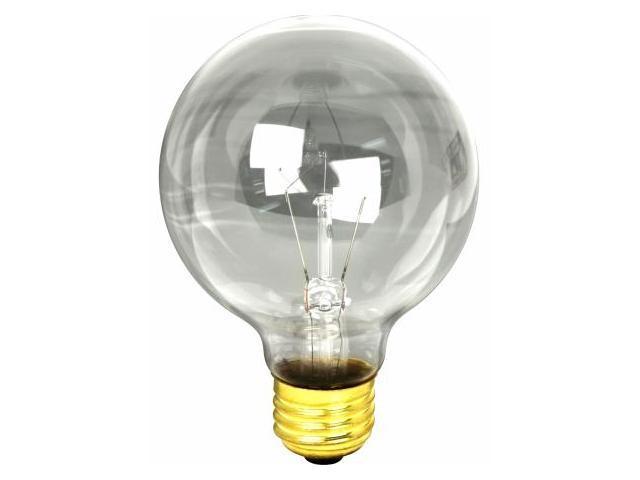 Feit 25 Watt Clear Bath & Vanity Globe Light Bulb  25G25
