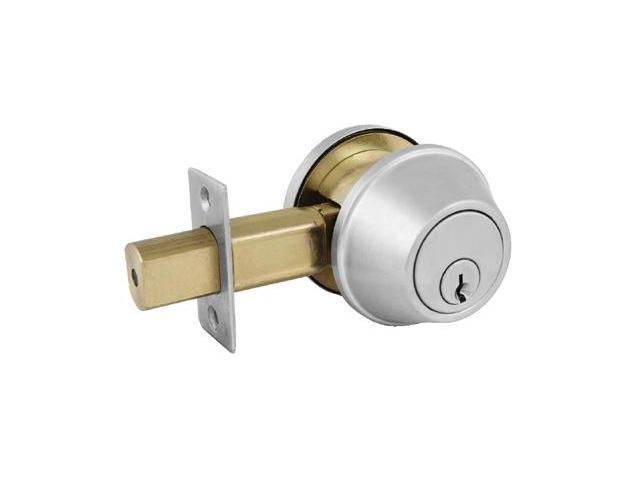 Master Lock 470-DSC0632DKA4 Comm Sgl Cyl Deadbolt Satin Chrome Ka4 Schlage C
