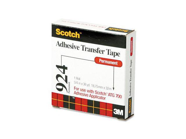 3M 92434 Adhesive Transfer Tape Roll for Scotch Tape Gun  3/4 Wide x36 Yards