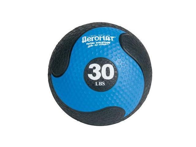 AGM Group 35870 Elite Deluxe Low Bounce Medicine Ball - Black-Blue 30 Lb