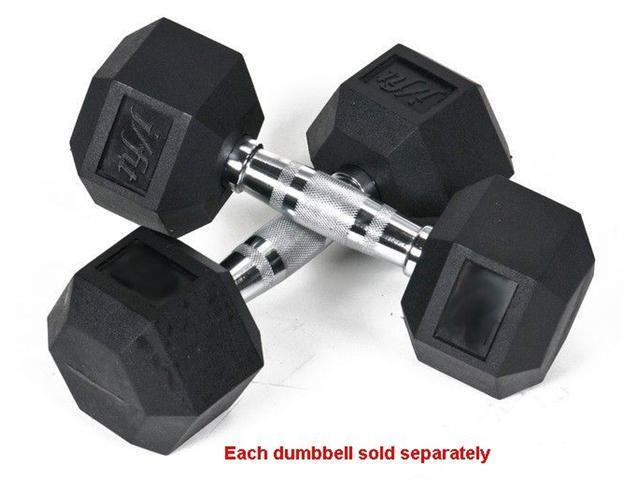 J Fit 20-6504 Rubber Coated Hex Dumbbell 4 lb Single