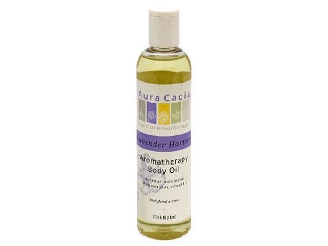 Aura Cacia Aromatherapy Body Oil Lavender Harvest -- 8 fl oz