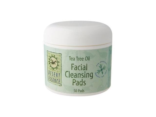 Natural Facial Cleansing Pads with Tea Tree Oil - Desert Essence - 50 - Pad