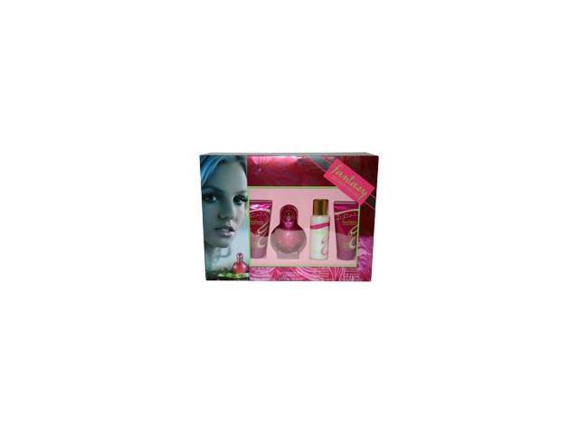 Fantasy by Britney Spears for Women - 4 Pc Gift Set 1.7oz EDP Spray, 1.7oz Shower Gel, 1.7oz Bubble Bath, 1.7oz Body Souffle