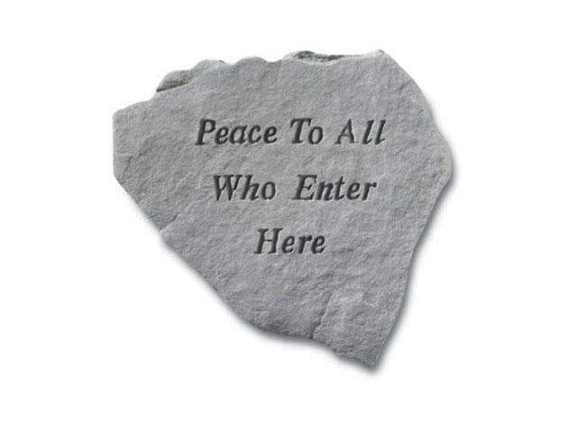 Kay Berry- Inc. 65620 Peace To All Who Enter Here - Memorial - 14.25 Inches x 12 Inches