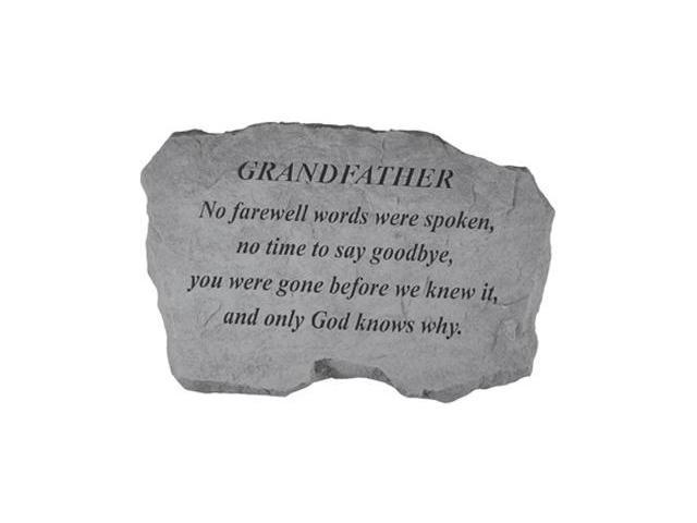 Kay Berry- Inc. 98120 Grandfather-No Farewell Words Were Spoken - Memorial - 16 Inches x 10.5 Inches x 1.5 Inches
