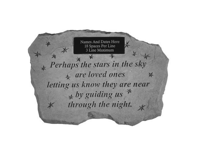 Kay Berry 56521 Perhaps the Stars in the Sky- Engravable Memorial Stone