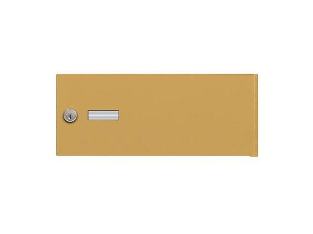 Salsbury Industries 3652GLD Replacement Door and Lock - Standard B Size - for 4B+ Horizontal Mailbox - with (2) Keys - Gold