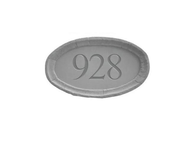 Kay Berry 33110 Address Plaque from Stone - Oval