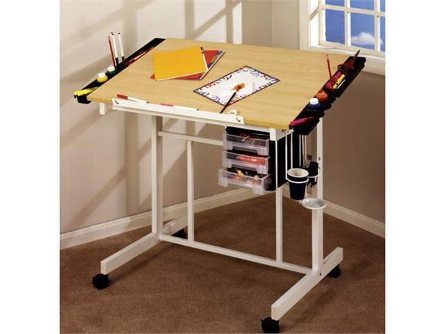 Deluxe Craft Station (White and Maple)