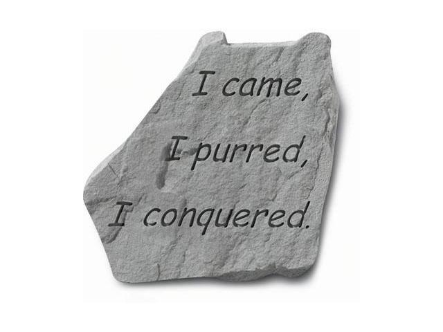 Kay Berry- Inc. 91520 I Came-I Purred-I Conquered - Garden Accent - 9 Inches x 9 Inches